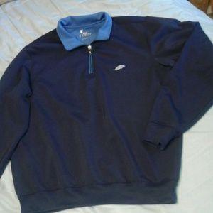 F&G Tech Navy Blue Pullover Jacket 1/4 Zip L
